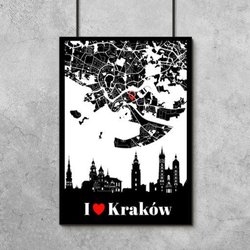 Plakat z motywem polskiego miasta