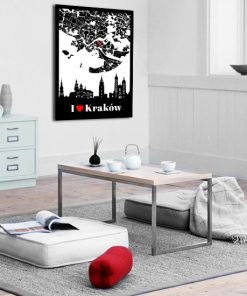 Plakat z motywem miasta do salonu