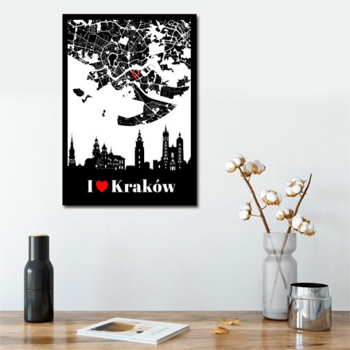 Plakat z napisem - I love Kraków