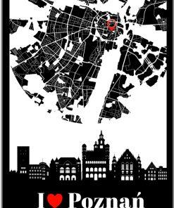 Plakat z motywem polskiego miasta do salonu