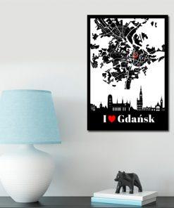 Plakat z motywem Gdańska do dekoracji salonu