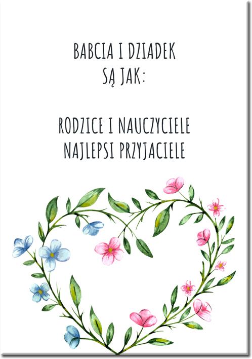Plakat z wierszykiem dla dziadków