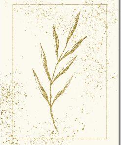 Plakat z rysunkiem liścia