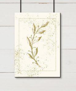Kremowy plakat ze szkicem gałązki