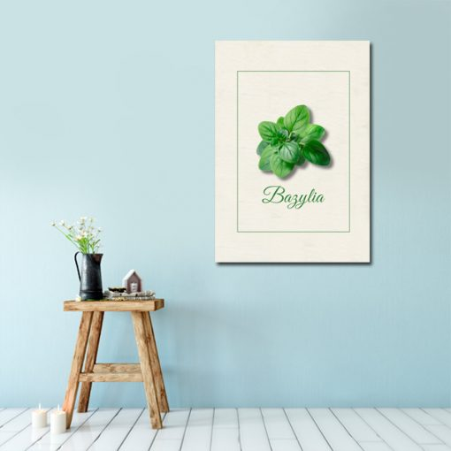 Plakat z bazylią do dekoracji kuchni