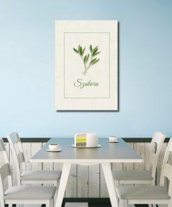 Kremowy plakat na ścianę do kuchni