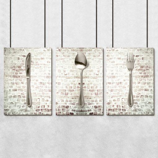 plakaty z łyżkami
