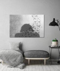 Skandynawski plakat do salonu