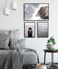 Zestaw trzech plakatów do dekoracji sypialni