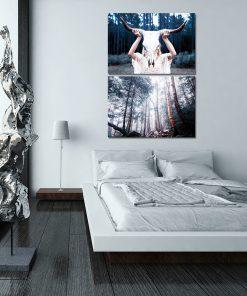 Plakat dyptyk do dekoracji sypialni