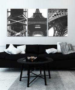 Plakat z wieżą Eiffla do salonu