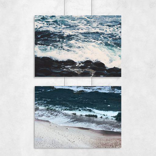 Plakat z motywem morskim