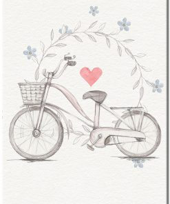 Plakat vintage z rowerem
