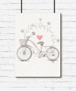 Plakat vintage z motywem roweru