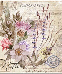 Plakat kwadratowy z motywem kwiatów