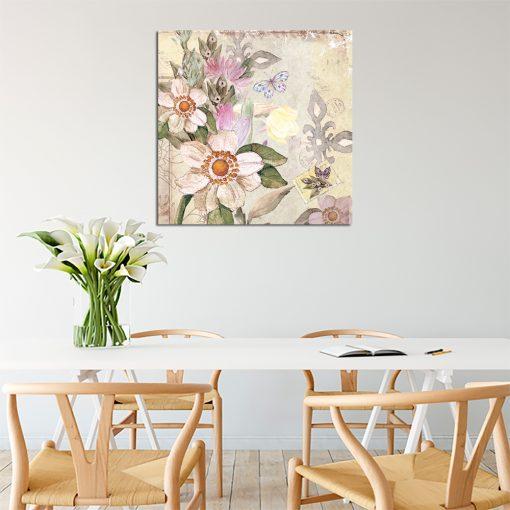 Plakat z motywem kwiatów w stylu vintage