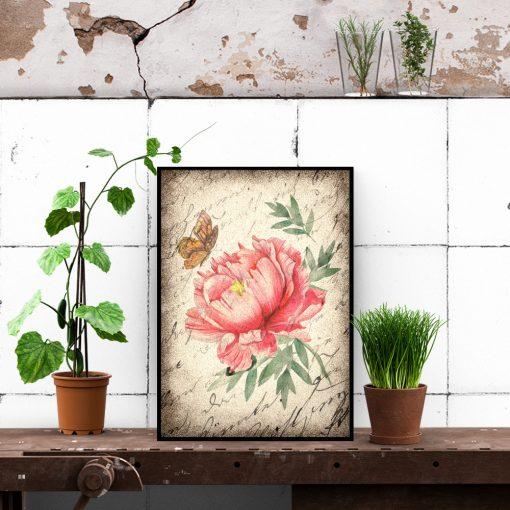 Plakat z kwiatem do sypialni