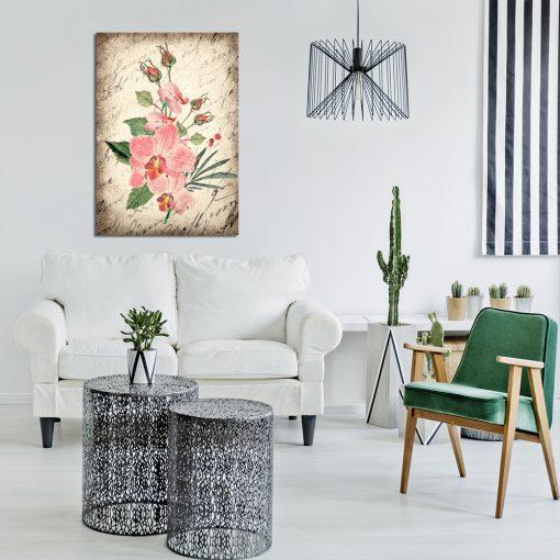 Plakat z kwiatem do salonu