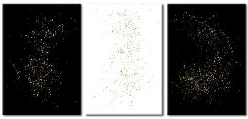 Zestaw plakatów z motywem żółtej abstrakcji