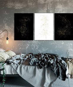 Plakat tryptyk do ozdoby sypialni