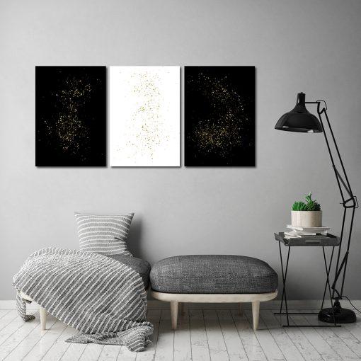 Potrójny plakat do dekoracji salonu