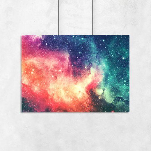 Plakat z motywem kosmosu