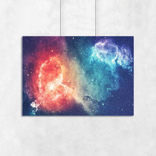 Galaktyczny plakat do sypialni