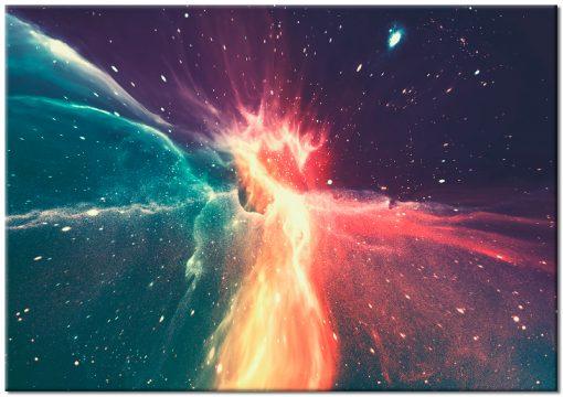 Plakat z kolorową galaktyką