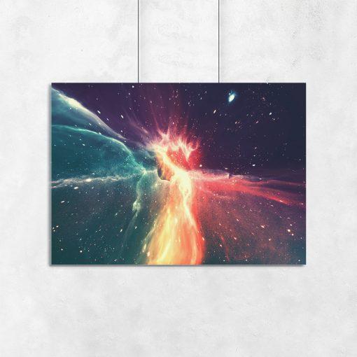 Plakat galaxy do salonu