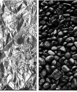 Plakat dyptyk w kolorze czarno-białym