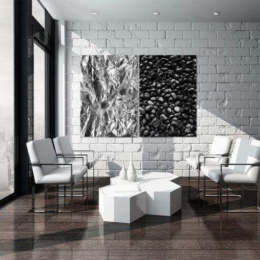 Abstrakcyjny dyptyk do salonu