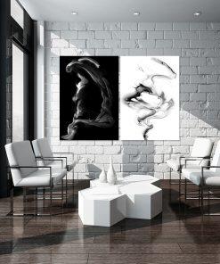 Podwójny plakat z abstrakcyjnym wzorem