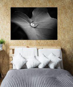 Czarno-biały plakat do dekoracji sypialni