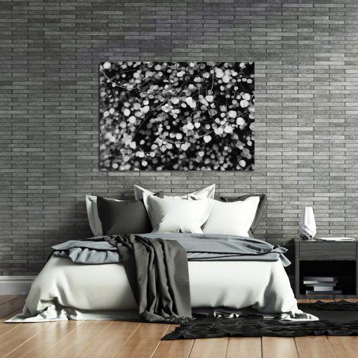 Szary plakat na ścianę do sypialni