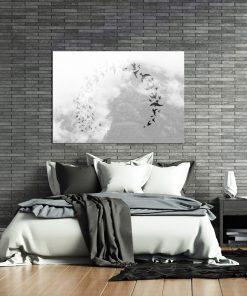 Plakat z motywem ptaków do dekoracji sypialni
