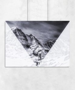 Plakat z motywem geometrycznym