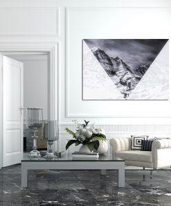 Czarno-biały plakat geometryczny do salonu