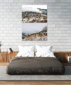 Plakat podwójny z motywem gór do sypialni