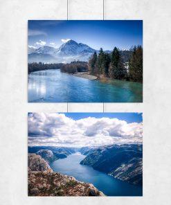 Plakat dyptyk z motywem krajobrazu