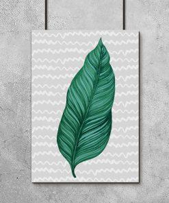 Plakat z tropikalnym motywem