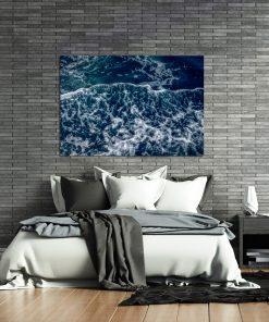Niebieski plakat do sypialni