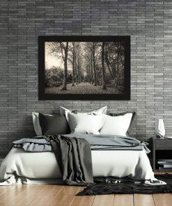 Plakat z motywem drzew do sypialni