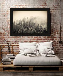 Plakat z motywem lasu do ozdoby sypialni