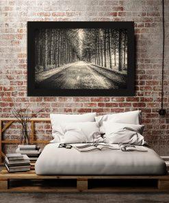 Plakat z motywem lasu do sypialni