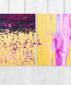 Zestaw dwóch plakatów z motywem abstrakcyjnym