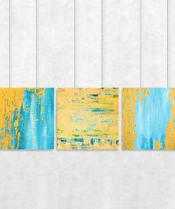 Tryptyk z abstrakcyjnym wzorem