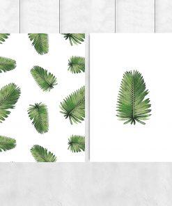 Zestaw plakatów w liście palmy