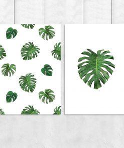 Dwa plakaty z motywem tropikalnym