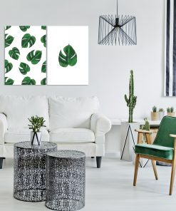 Tropikalny zestaw plakatów do salonu