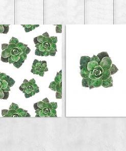 Plakat tropikalny we wzór kwiatów